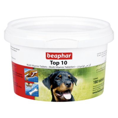 BEAPHAR TOP 10 DOG MULTI-VITAMINS 180 TAB