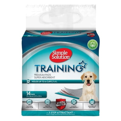 Simple Solution Premium Dog and Puppy Training Pads Pack of 14