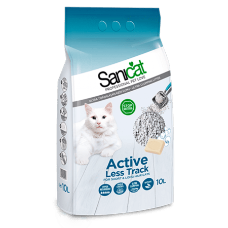 SANICAT ACTIVE LESS TRACK (Cat Litter)10 L
