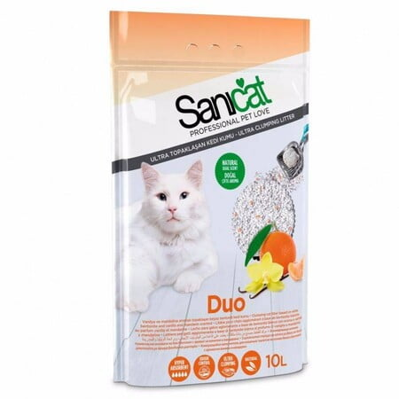 SANICAT DUO WHITE(Cat Litter) 10 L