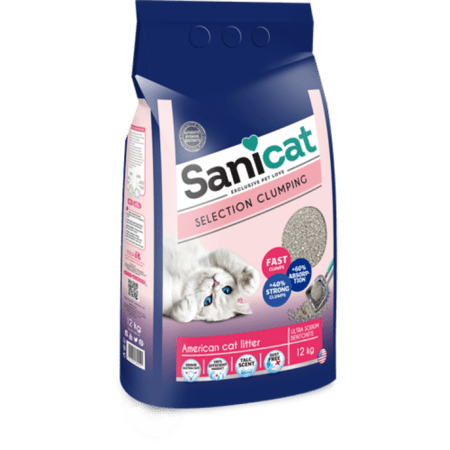 SANICAT SELECTION AMERICAN(Cat Litter) 12 KG