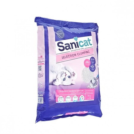 SANICAT SELECTION CLUMPING(Cat Litter) 16KG