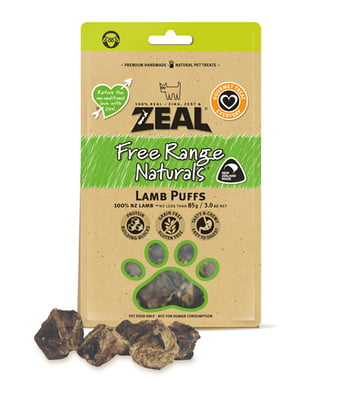 Zeal Lamb Puffs (85g) Dog Treat