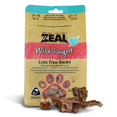 Zeal Ling Fish Skins (Dog Treat )