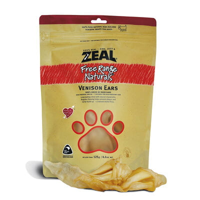 Zeal Venison Ears (4-6pcs) Dog Treat 125G