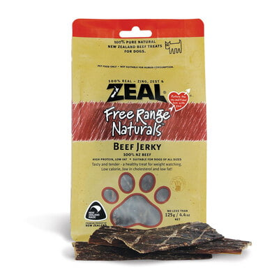 Zeal Beef Jerky (125g) Dog Treat