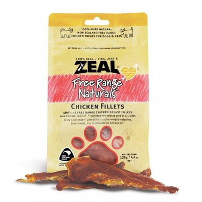 Zeal Dried Chicken Breast Fillet 125g (Dog Treat)