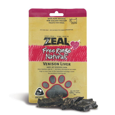 Zeal Venison Liver (125g) Dog Treat