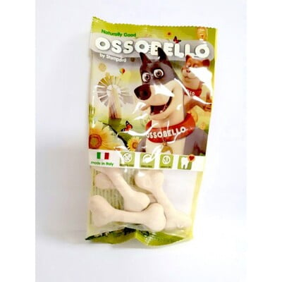 OSSOBELLO FLOWPACK BONE - WHITE XS / 4 PCS (DOG TREAT)