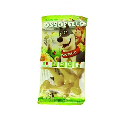 OSSOBELLO FLOWPACK BONE - YELLOW XS / 4 PCS(DOG TREAT)