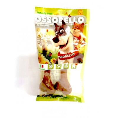 OSSOBELLO FLOWPACK BONE - BROWN S / 2 PCS (DOG TREAT)