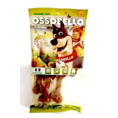 OSSOBELLO FLOWPACK BONE - BROWN XS / 4 PCS (DOG TREAT)