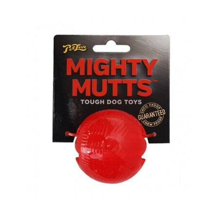 MIKKI MIGHTY MUTTS RUBBER BALL - LARGE