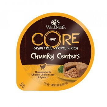 Wellness CORE Chunky Centers Chicken, Chicken Liver And Spinach, 170g