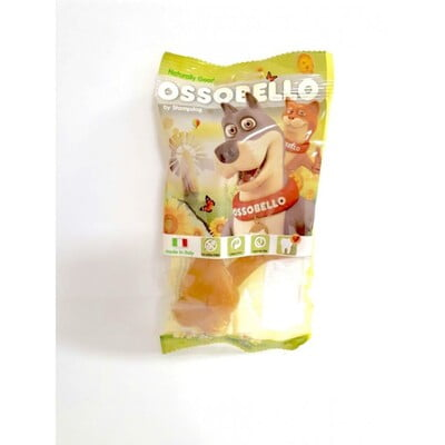 OSSOBELLO FLOWPACK BONE - YELLOW S / 2 PCS DOG TREAT