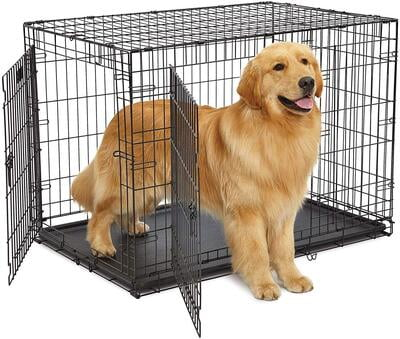 "MidWest 42"" LifeStages Double Door Dog Crate"