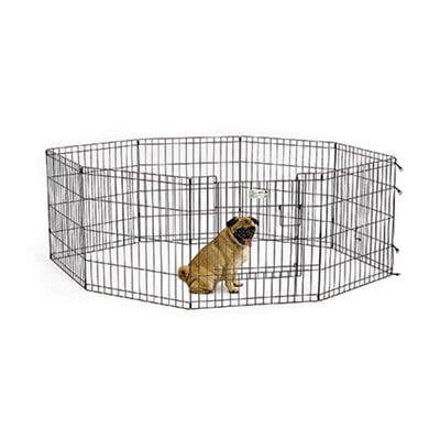 "MIdwest Homes 24"" Black Exercise Pen With Full MAX Lock Door"