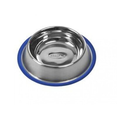 KRUUSE BUSTER STAINLESS STEEL BOWL BLUE BASE 0.85L 23CM