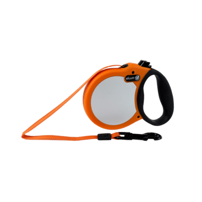 ALCOTT VISIBILITY RETRACTABLE LEASH, 5 M - SMALL - NEON ORANGE