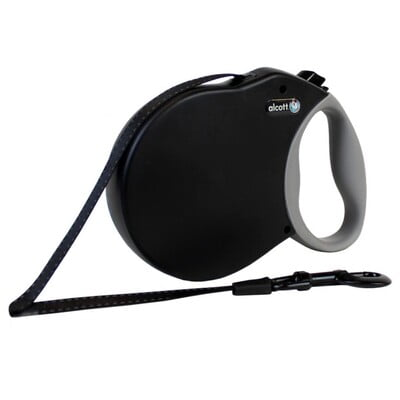 ALCOTT EXPEDITION RETRACTABLE LEASH, 8 M - LARGE - BLACK
