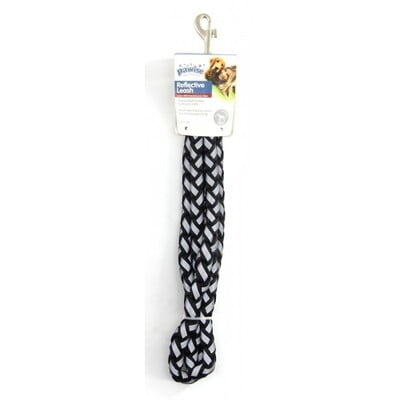 PAWISE DOG REFLECTIVE LEASH-BLACK:13543