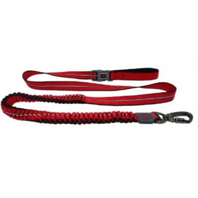 DOCO VARIO Easy Snap™ BUNGEE Leash Reflective 6ft 2.5 x 180cm-RED-(LARGE)