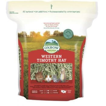 Oxbow Western Timothy Hay for Small Animals, 40 Oz