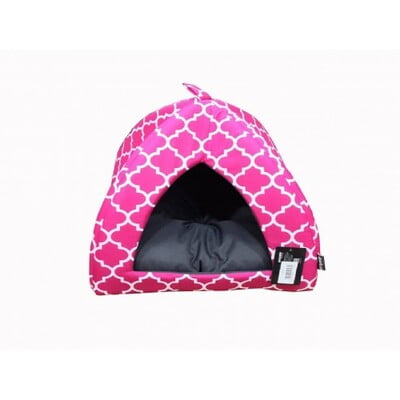 EMPETS HOUSE WITH CUSHION 43X43X35h (I02M) pink