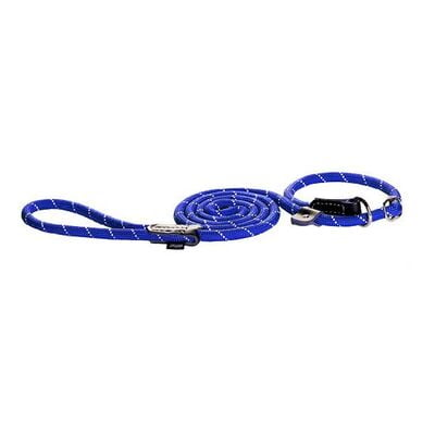 Rogz Rope Dog Lead Large Blue