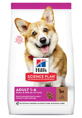 Hills Science Plan Canine Adult Small & Mini w/Lamb & Rice 1.5kg