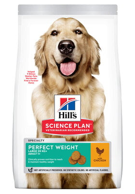 Hills Science Plan Canine Adult Perfect Weight Large Breed w/Chicken 12kg