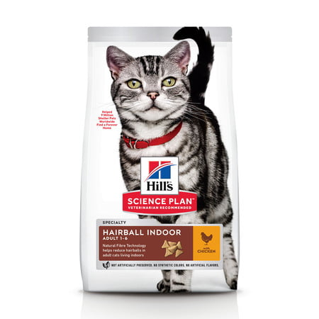 Hills Science Plan Adult  Cat Hairball Indoor Control w/Chicken 1.5kg