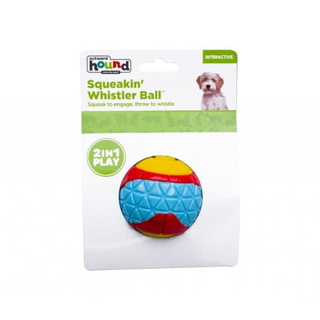 Pet Stages Squeakin' Whistler Ball Red MD