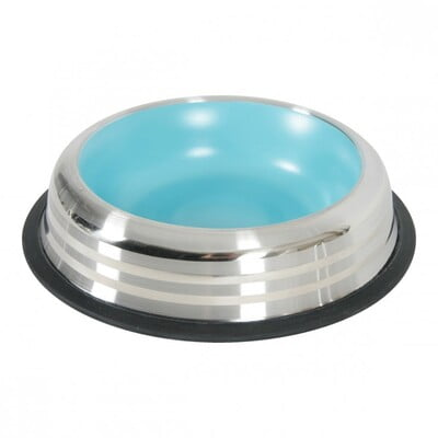 MERENDA STAINLESS NON-SLIP DOG BOWL - BLUE 500ML