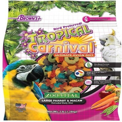 FM BROWNS EXTRUDED PARROT&MACAW FOOD 1.36KG