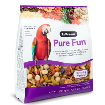 ZUPREEM PURE FUN LARGE PARROTS 2 LB (Bird Food)