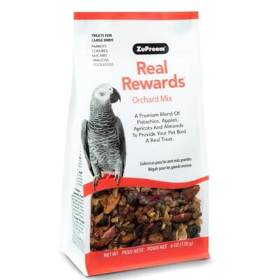 ZUPREEM REAL REWARD LARGE PARROT TREATS - ORCHARD MIX 170G
