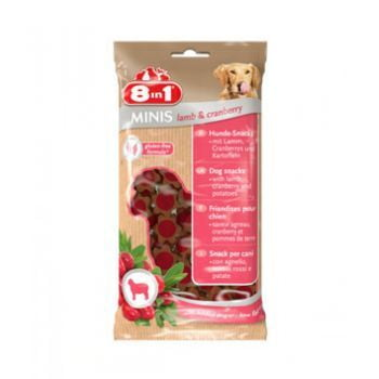 8in1 Minis Lamb & Cranberry 100G(DOG TREAT)