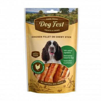 Dog Fest Chicken fillet on a chewy stick for adult dogs - 90g (3.17oz)