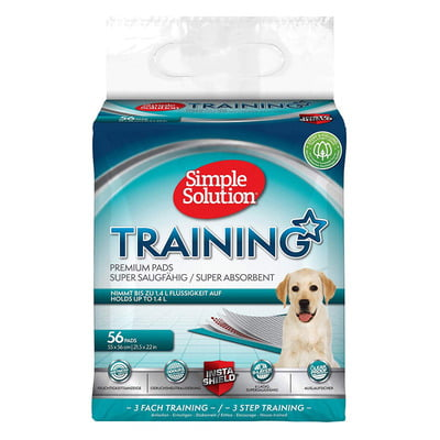 Simple Solution Premium Dog and Puppy Training Pads – 56 Pads