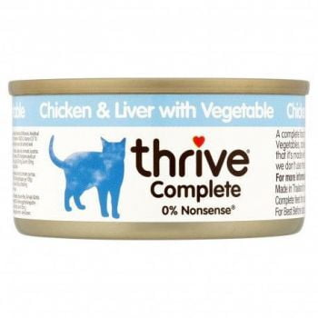 Thrive Complete Cat Chicken & Liver w/ Veg Wet 75G(Wet Food)