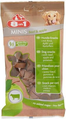 8in1 Minis Beef & Apple 100g DOG TREAT