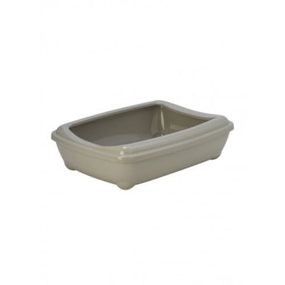 MODERNA ARIST-O- TRAY+BORDER GREY (C192) CAT LITTER TRAY
