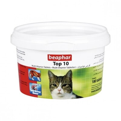 BEAPHAR TOP 10 CAT MULTI-VITAMINS 180 TAB