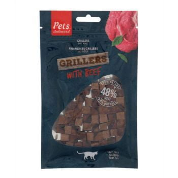 Pets Unlimited Grillers with Beef Cat Treats - 50G
