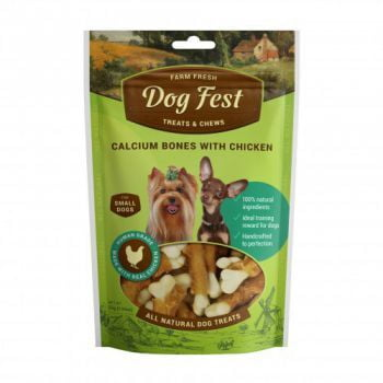 Dog Fest Calcium bones with chicken for mini-dogs - 55g (1.94oz)TREAT