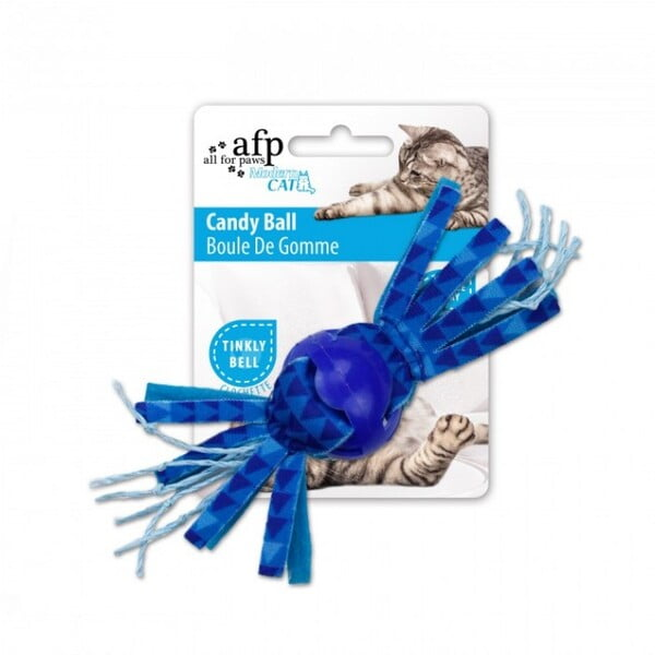 ALL FOR PAWS CANDY BALL - BLUE CAT TOY