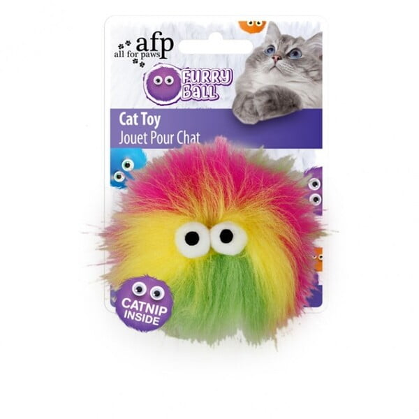 ALL FOR PAWS FLUFFY BALL - PINK (CAT TOY)