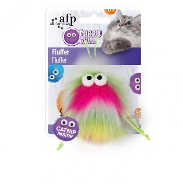 ALL FOR PAWS FLUFFER - PINK (CAT TOY)