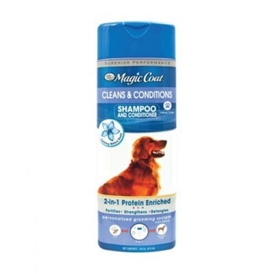 Four Paws Magic Coat Cleans Conditions 2-In-1 Shampoo Conditioner For Dogs 16oz